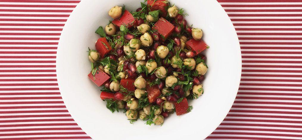 Kichererbsen mit Granatapfel Nuss