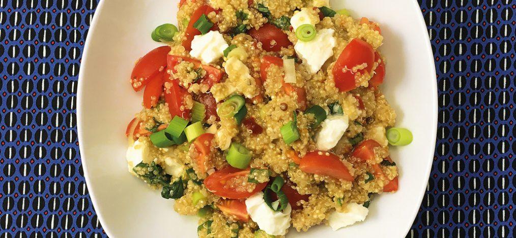 Quinoa Mozzarella mit Basilikum