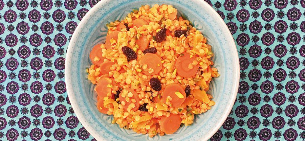 Linsen-Curry mit Aprikosen