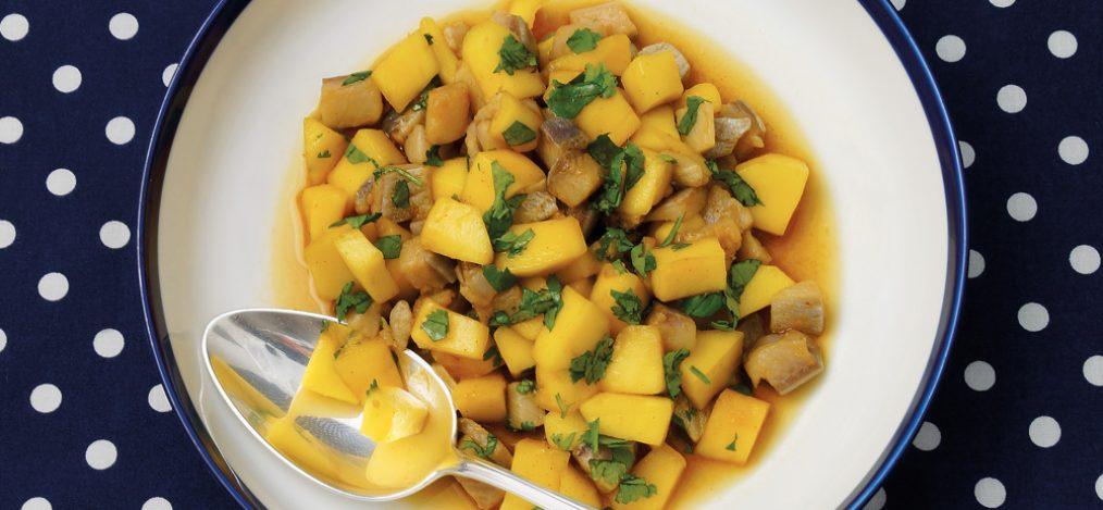 Matjes-Mango-Salat-mit-Koriander