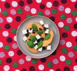 Melonen-Feta-Salat-mit-Cranberries
