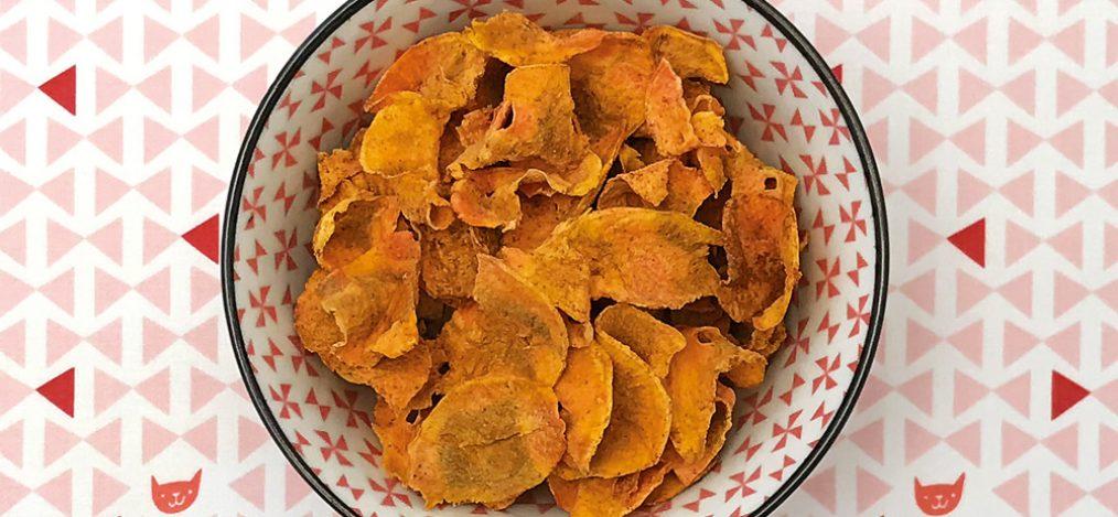 Möhren-Curry-Chips ohne Öl