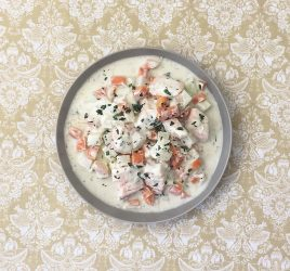 Zitronen-Estragon-Lachs mit Gemüse